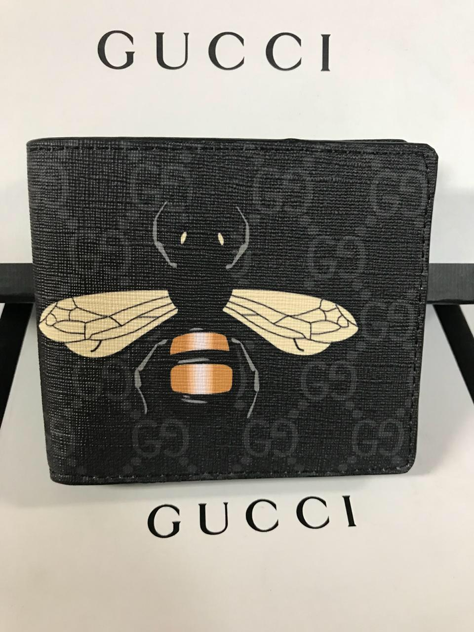 nueva estilos nueva estilos grande descuento venta Billetera Gucci Bee Negro